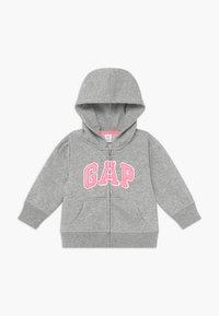 GAP - TODDLER GIRL BASIC FULL ZIP - Hoodie met rits - light heather grey - 0