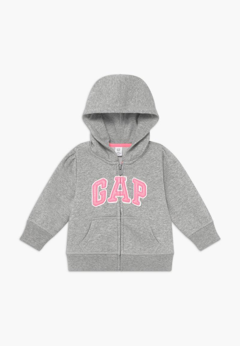 GAP - TODDLER GIRL BASIC FULL ZIP - Hoodie met rits - light heather grey