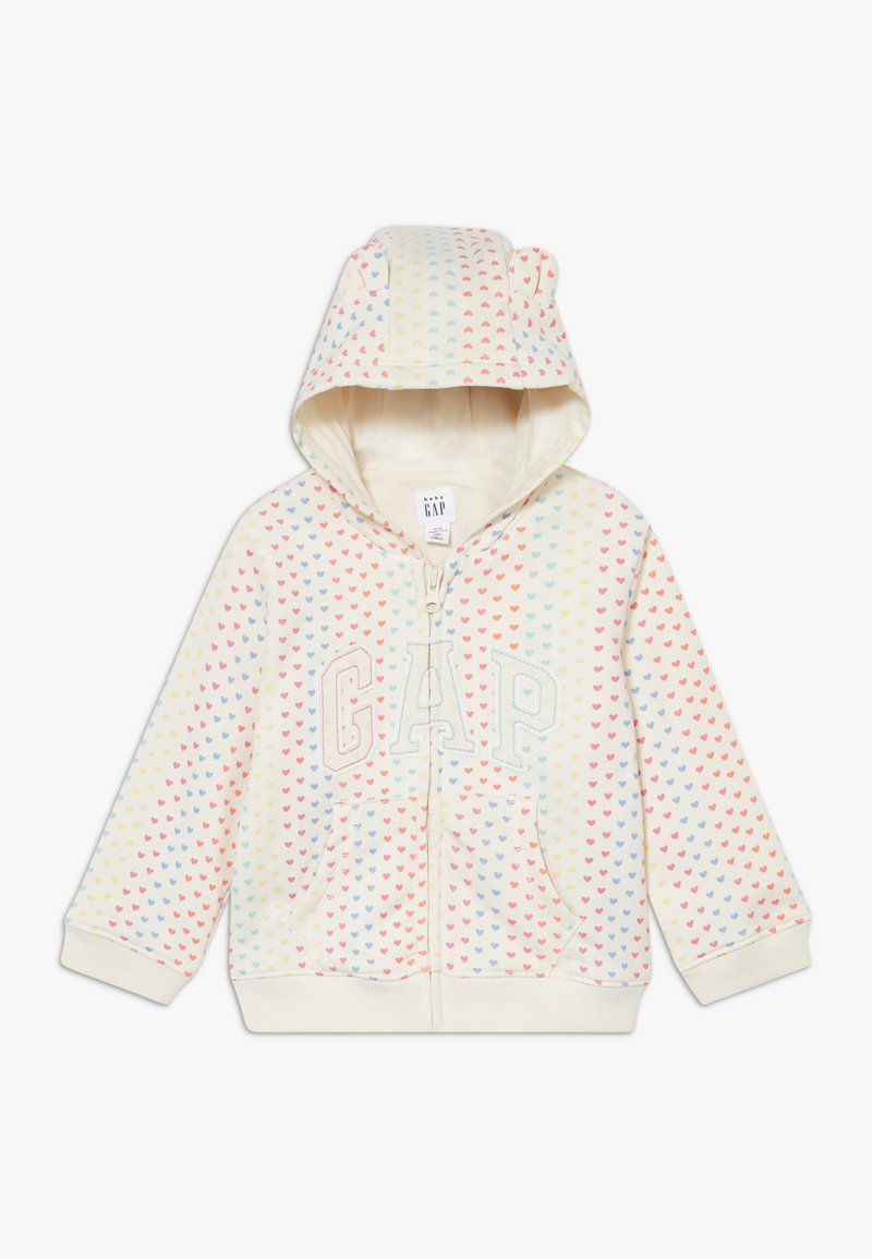 GAP - ARCH  - Zip-up hoodie - ivory frost