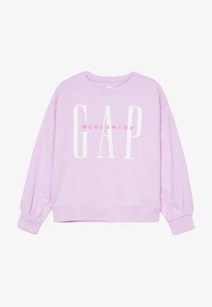 GIRL LOGO DOLMAN CREW - Bluza - lavender pink