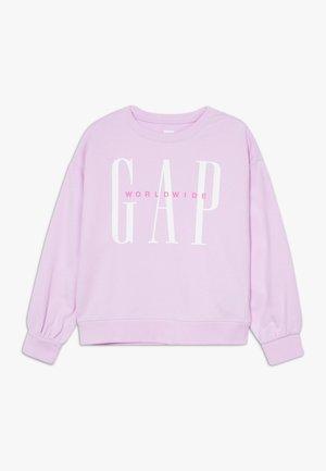 GIRL LOGO DOLMAN CREW - Mikina - lavender pink