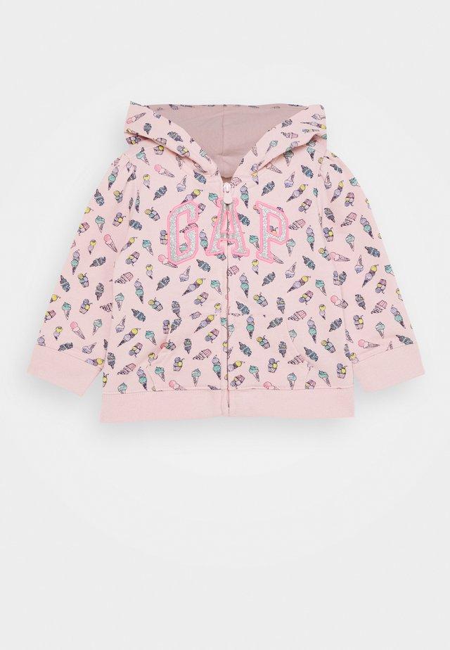 TODDLER GIRL LOGO - Zip-up hoodie - pink