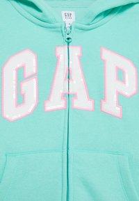 GAP - GIRL LOGO  - Mikina na zip - aqua tide - 2