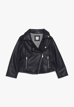 TODDLER GIRL FAUX MOTO - Keinonahkatakki - weather navy