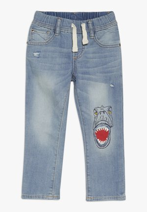 TODDLER BOY SLIM DINO - Jeans slim fit - light wash