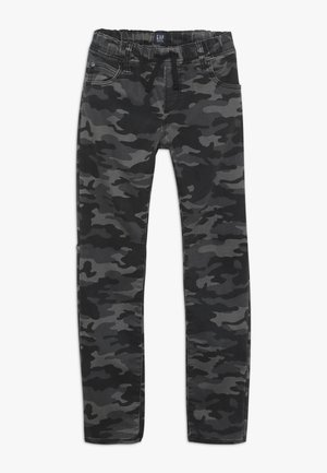 BOY SLIM CAMO - Broek - black