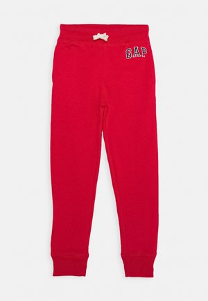 BOYS HERITAGE LOGO - Tracksuit bottoms - pure red