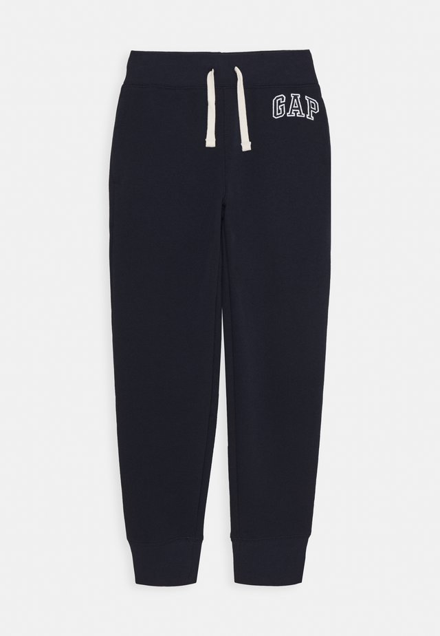 BOYS HERITAGE LOGO - Tracksuit bottoms - blue galaxy