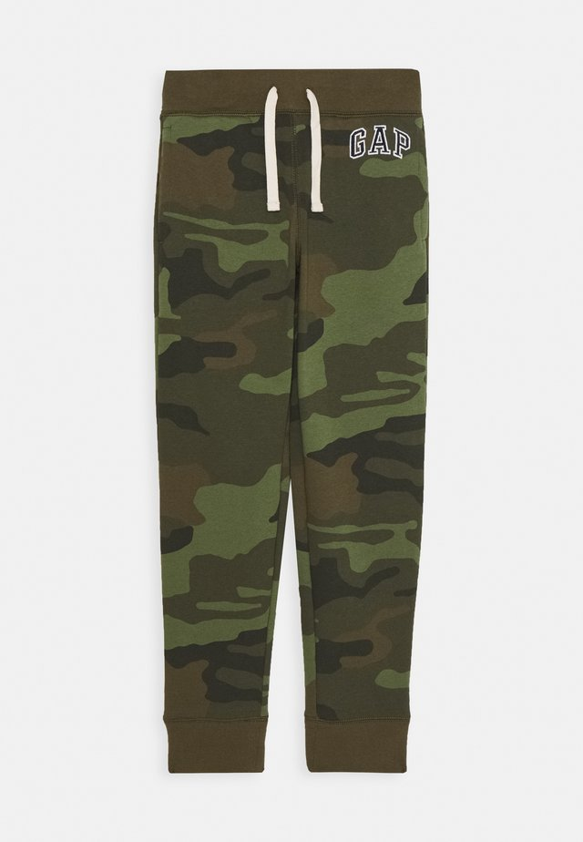 BOYS HERITAGE LOGO - Tracksuit bottoms - green