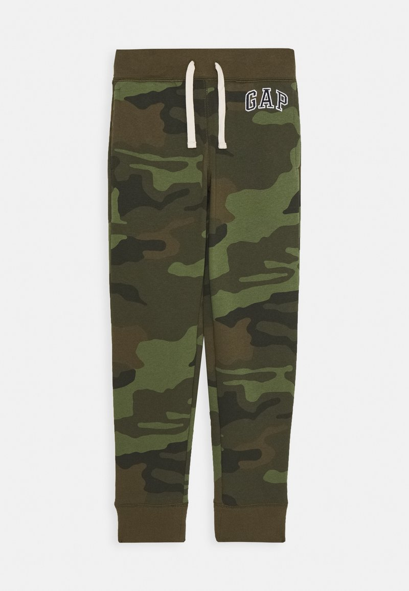 GAP - BOYS HERITAGE LOGO - Tracksuit bottoms - green