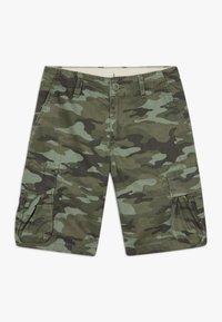 GAP - BOY - Cargo trousers - green camo - 0