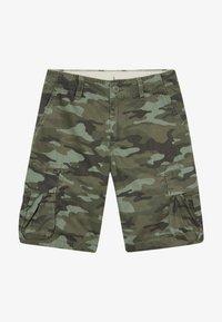 GAP - BOY - Cargo trousers - green camo - 3