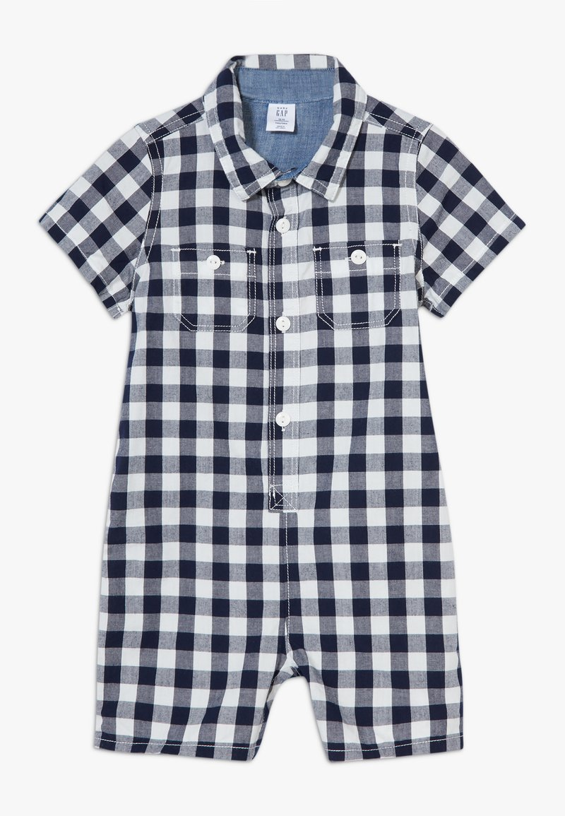 GAP - GINGHAM  - Overal - navy uniform