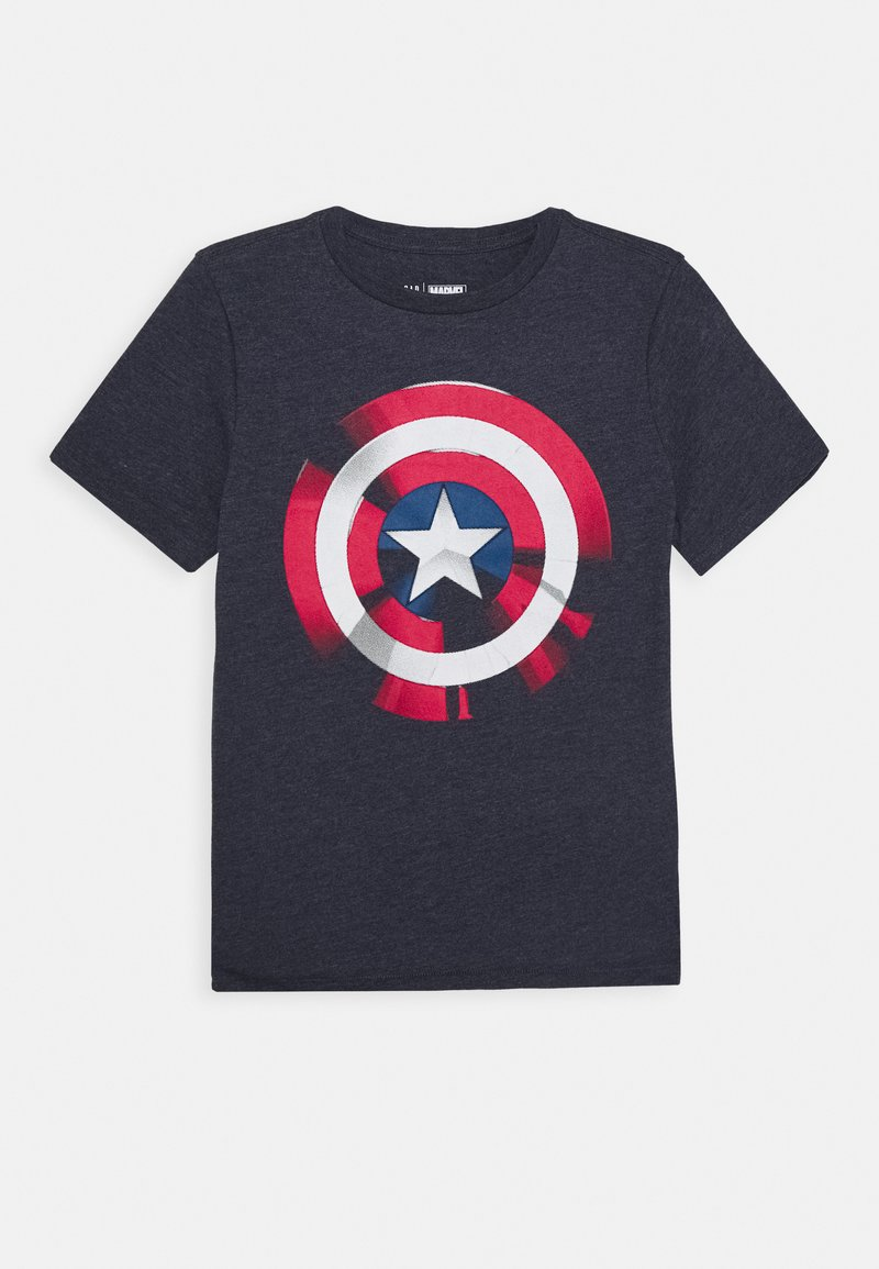 GAP - BOY SHIELD TEE - Print T-shirt - true indigo