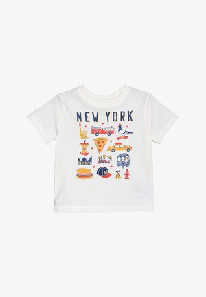 TODDLER BOY CITY - Triko s potiskem - new off white