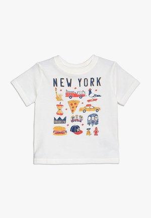 TODDLER BOY CITY - T-shirt z nadrukiem - new off white