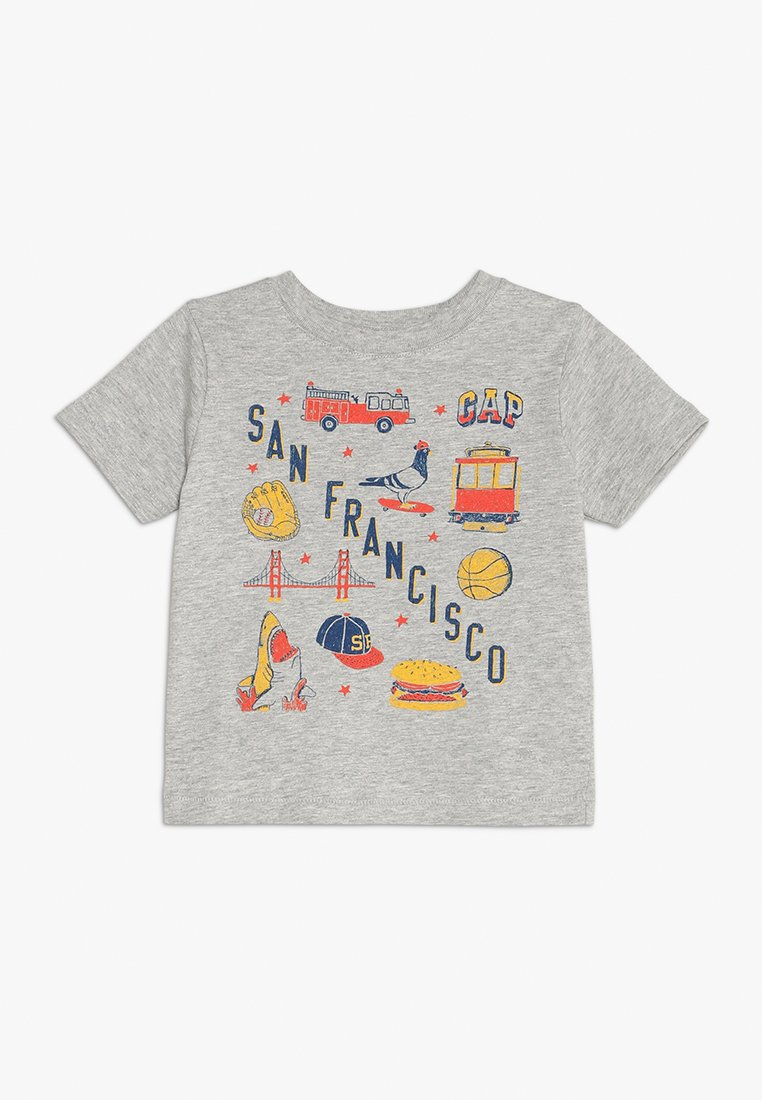 GAP - TODDLER BOY CITY - T-shirt z nadrukiem - light heather grey