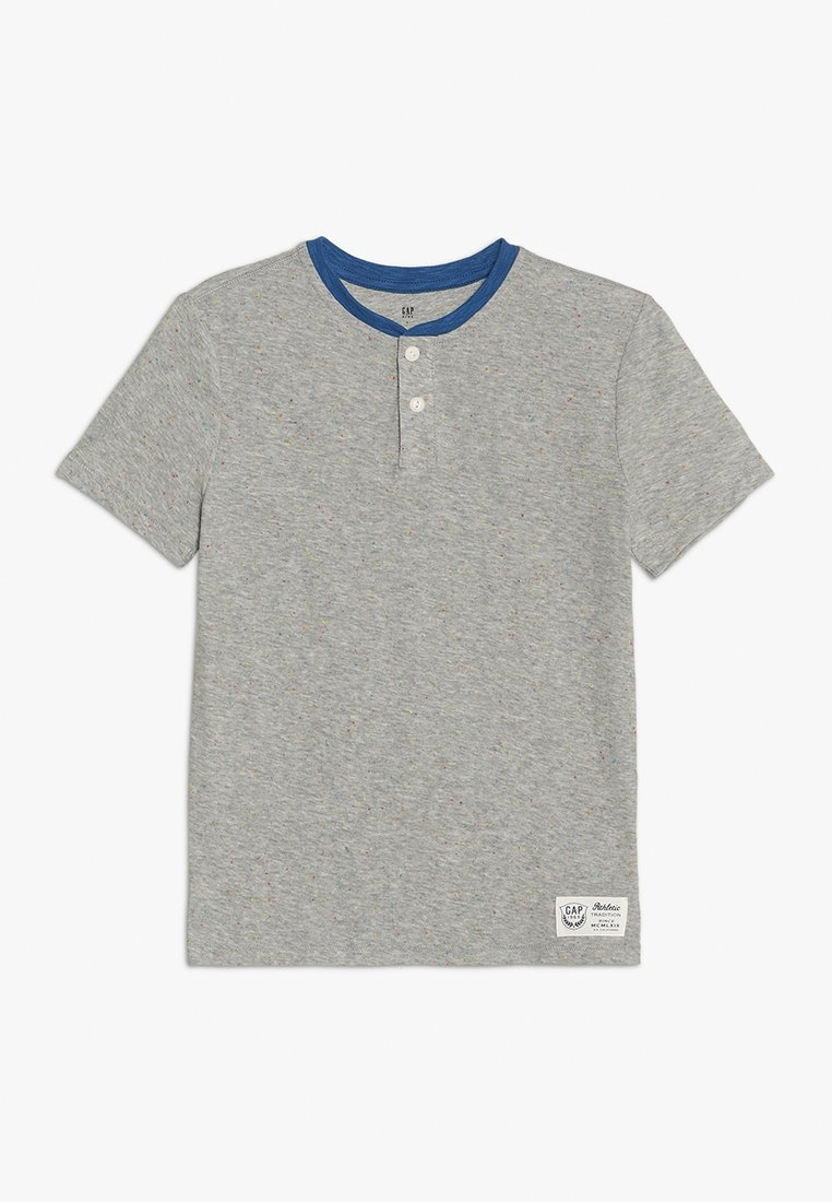 GAP - BOYS HENLEY - Print T-shirt - light grey heather