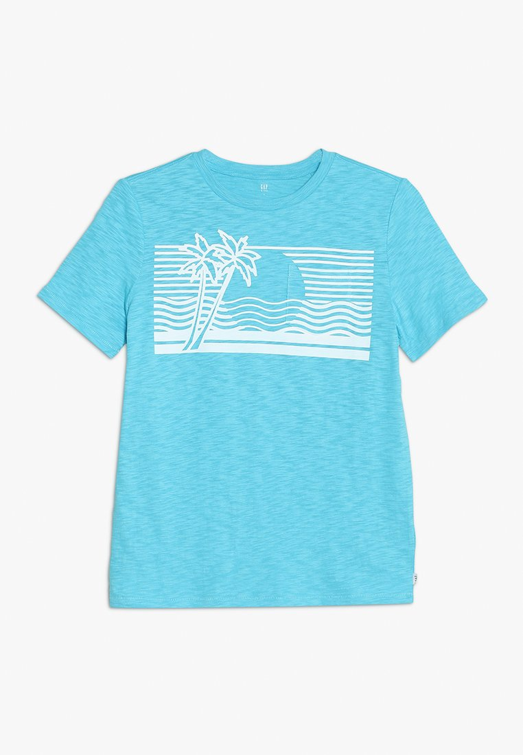 GAP - BOYS TEE - Print T-shirt - atlantis blue