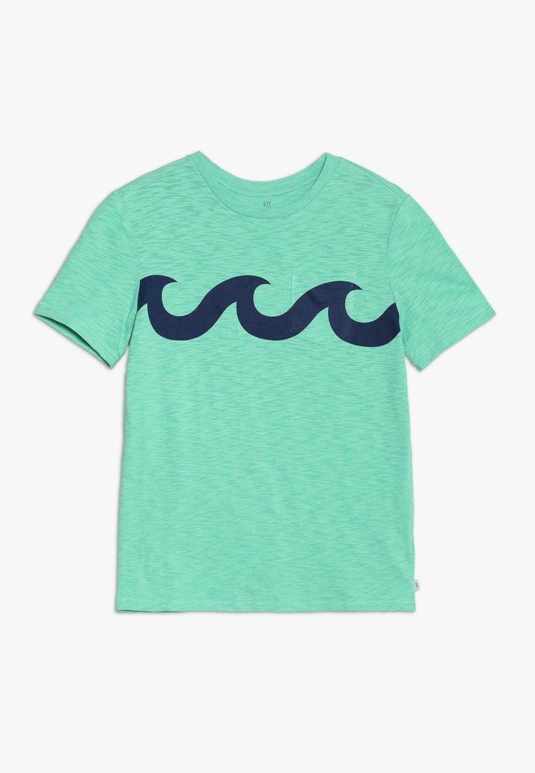 GAP - BOYS TEE - Print T-shirt - jamaica green
