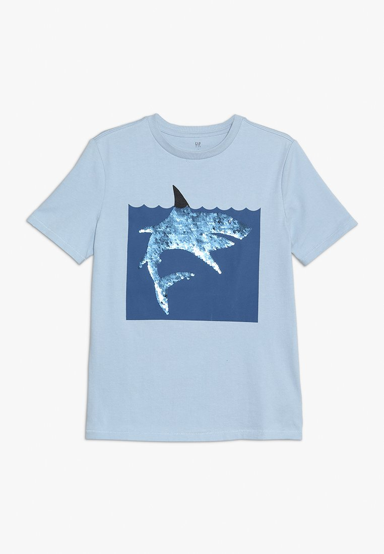 GAP - BOYS FLIP TEE - T-shirt con stampa - sail blue