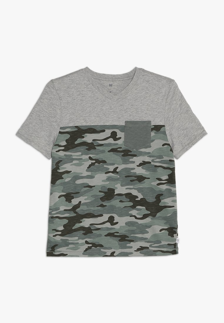 GAP - BOYS V NECK - Print T-shirt - light heather grey