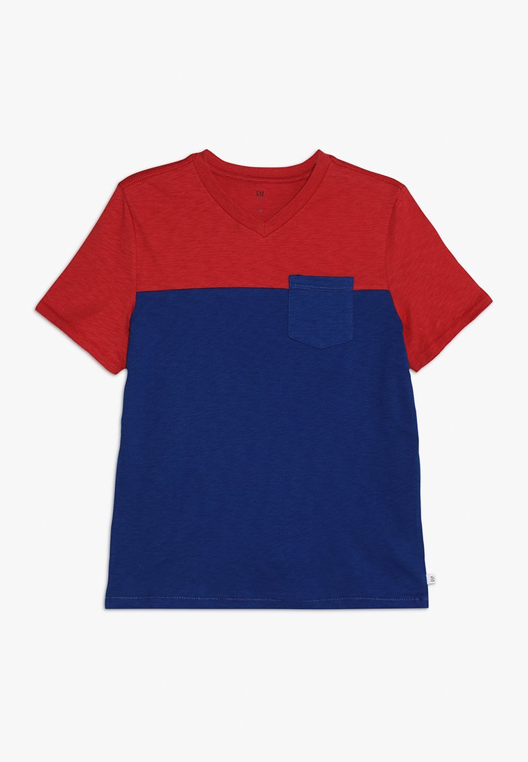 GAP - BOYS V NECK - Print T-shirt - weathered red