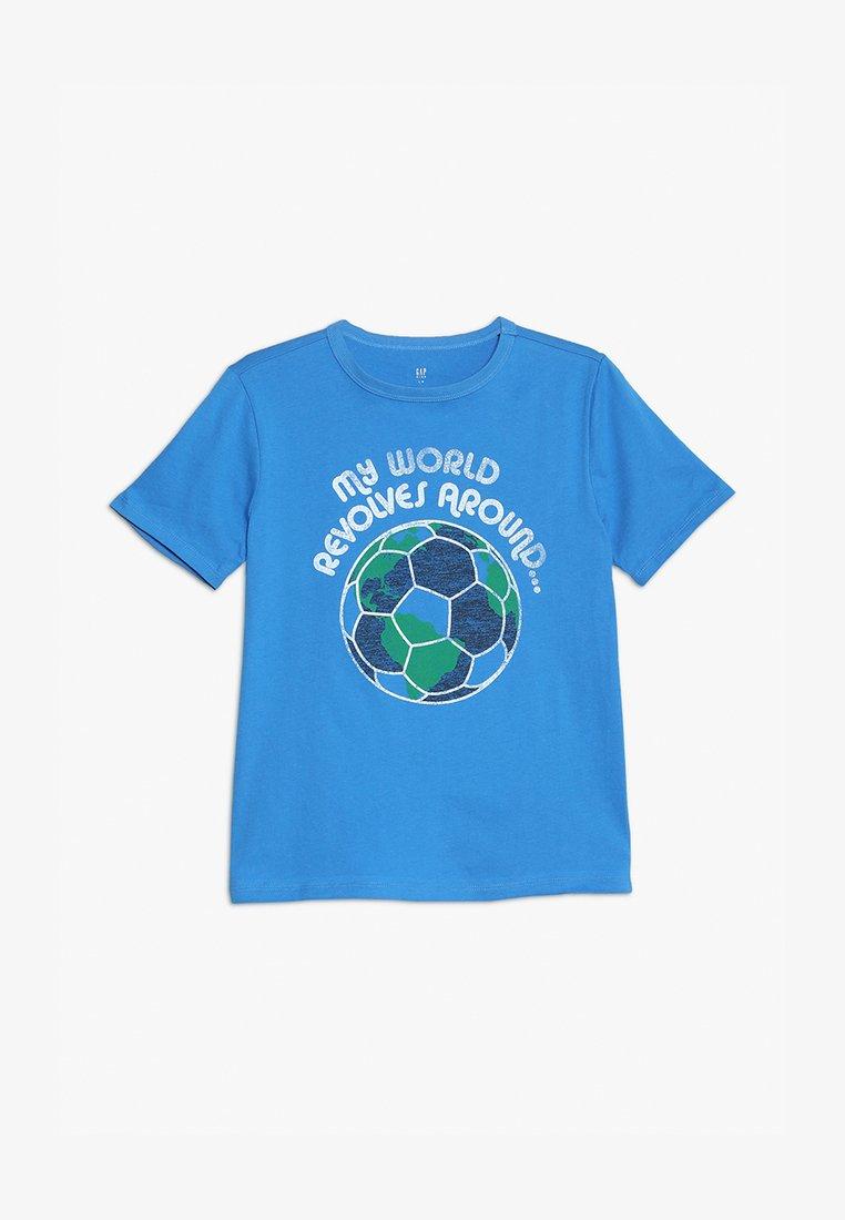 GAP - BOYS - Print T-shirt - breezy blue