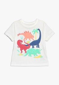 GAP - TODDLER BOY TEE - T-shirt z nadrukiem - new off white - 0