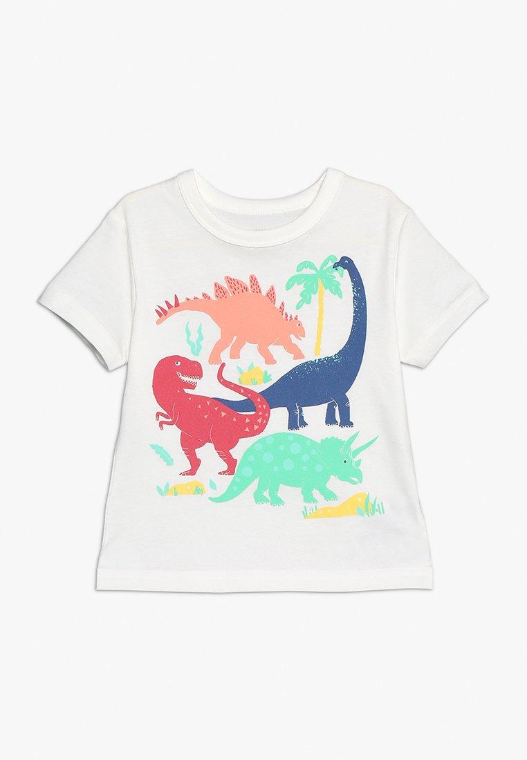 GAP - TODDLER BOY TEE - T-shirt z nadrukiem - new off white