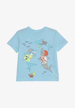 TODDLER BOY TEE - Triko s potiskem - docksider blue