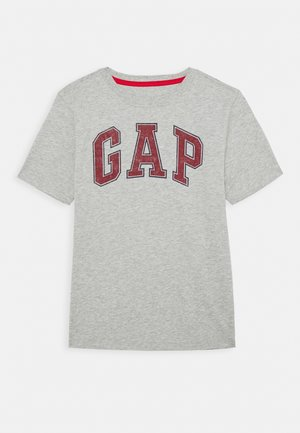 BOYS NEW ARCH SCREEN - Camiseta estampada - light heather grey