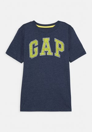BOYS NEW ARCH SCREEN - Print T-shirt - navy heather