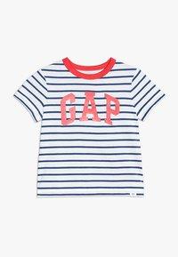GAP - TODDLER BOY LOGO - T-shirt z nadrukiem - white - 0