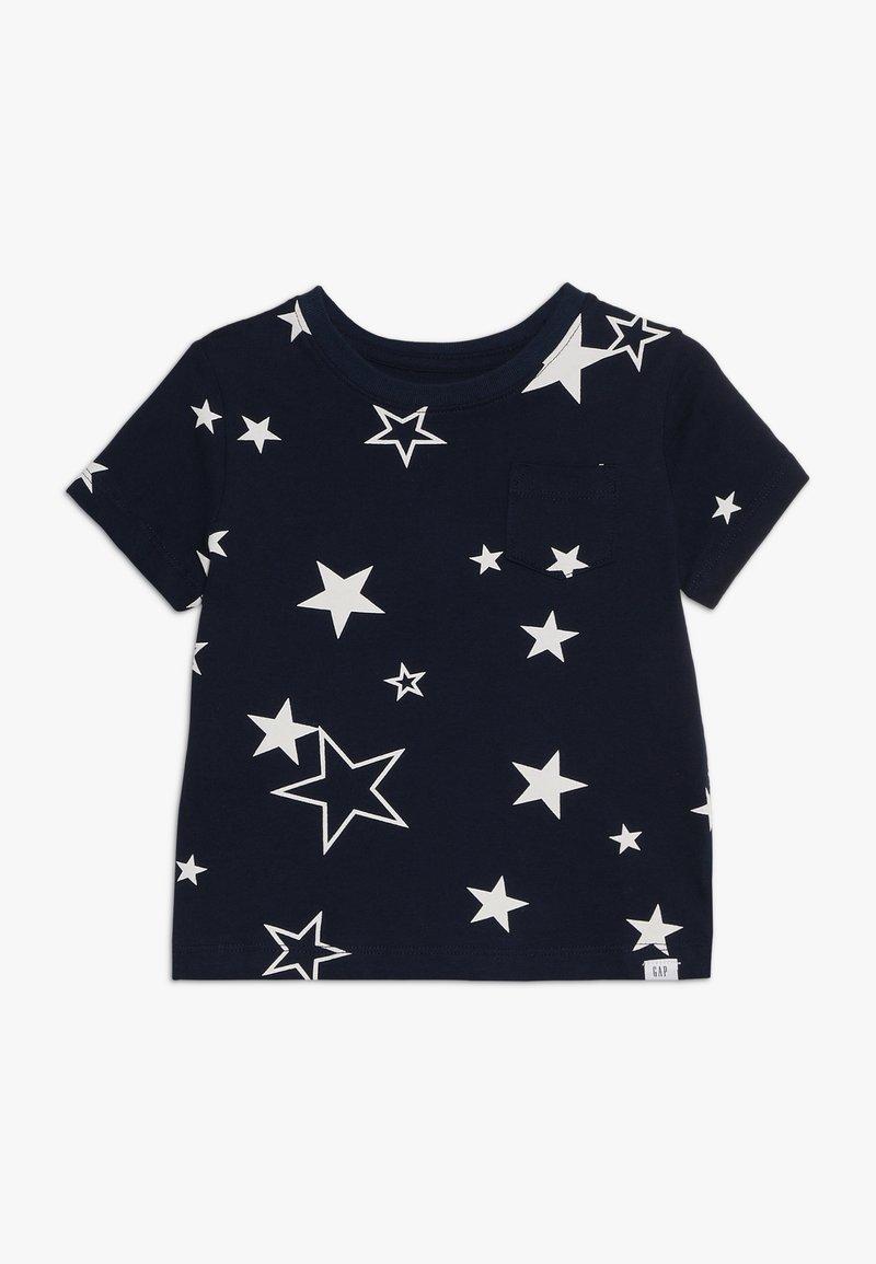 GAP - TODDLER BOY MAY PRINT  - T-shirt z nadrukiem - navy