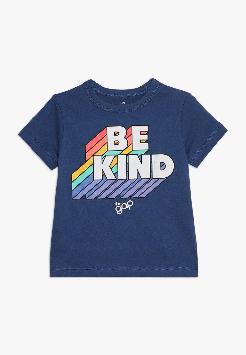 GAP - TODDLER BOY PRIDE TEE - T-shirt z nadrukiem - chrome blue
