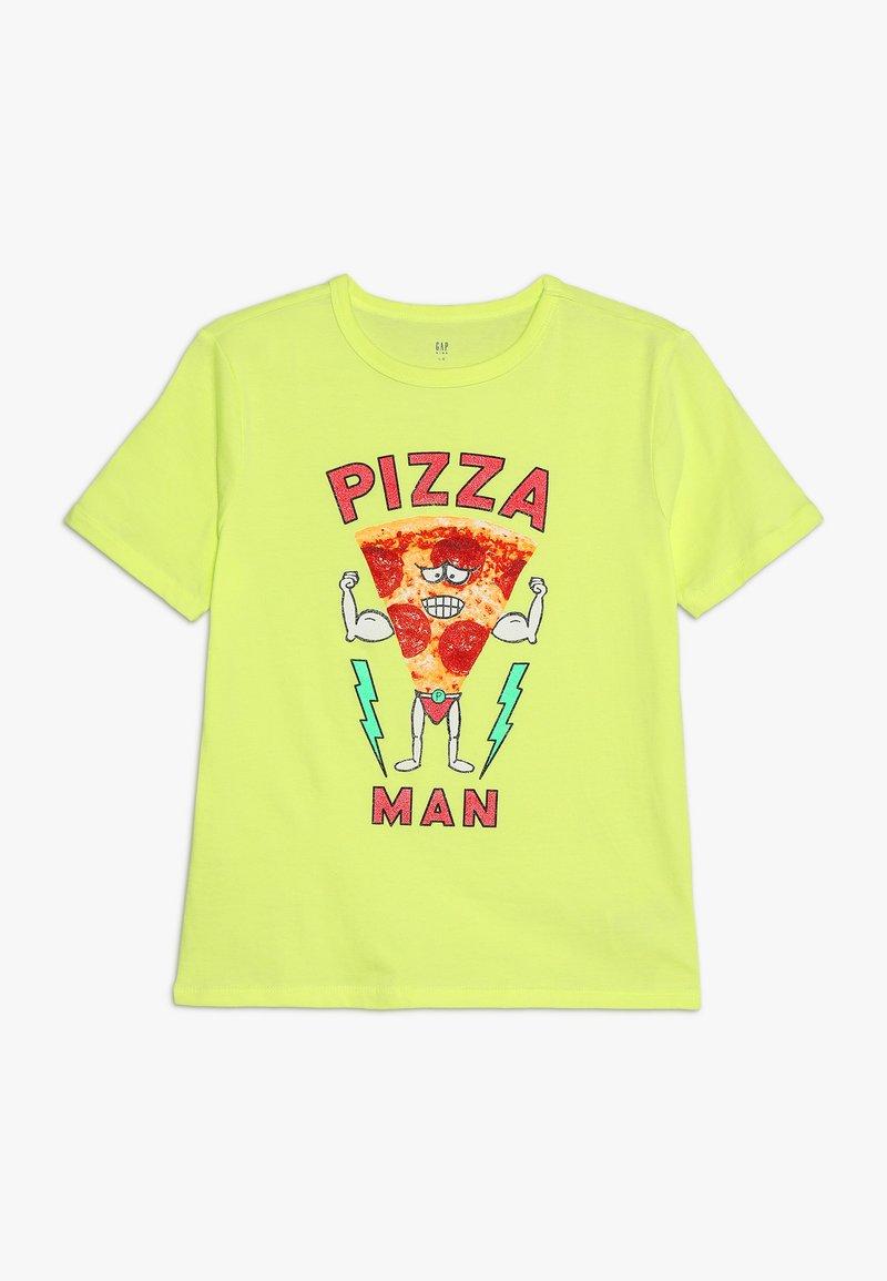 GAP - BOY MAY VAL - Print T-shirt - radioactive neon