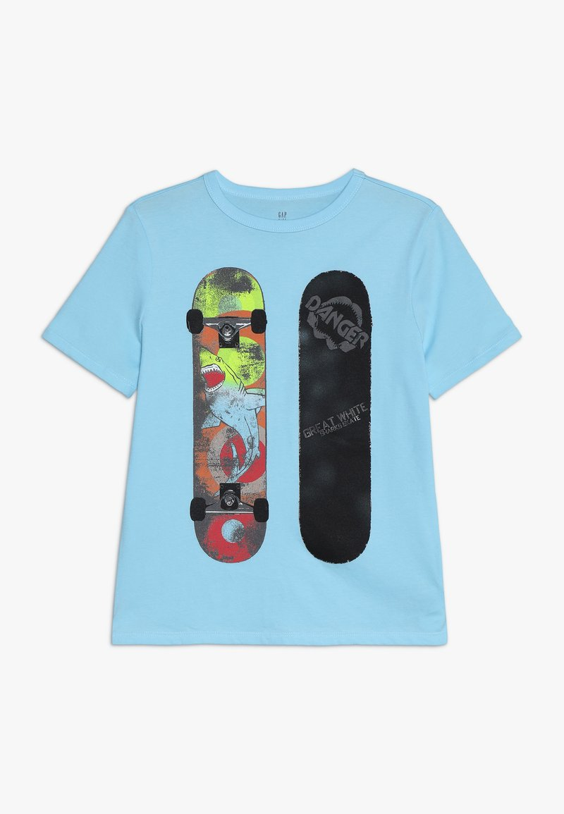 GAP - BOY MAY VAL - T-shirt con stampa - chlorine blue