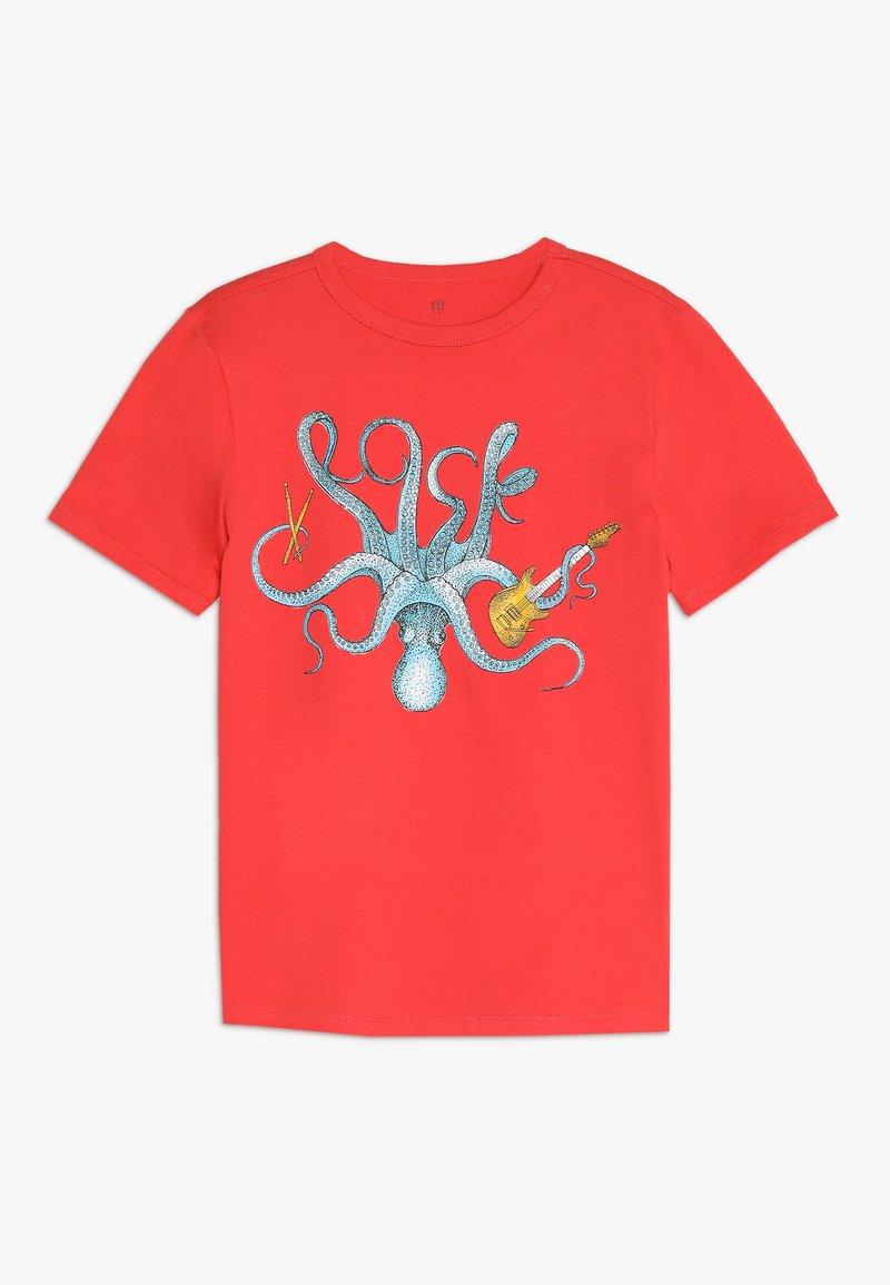 GAP - BOY  - T-shirt con stampa - hula red