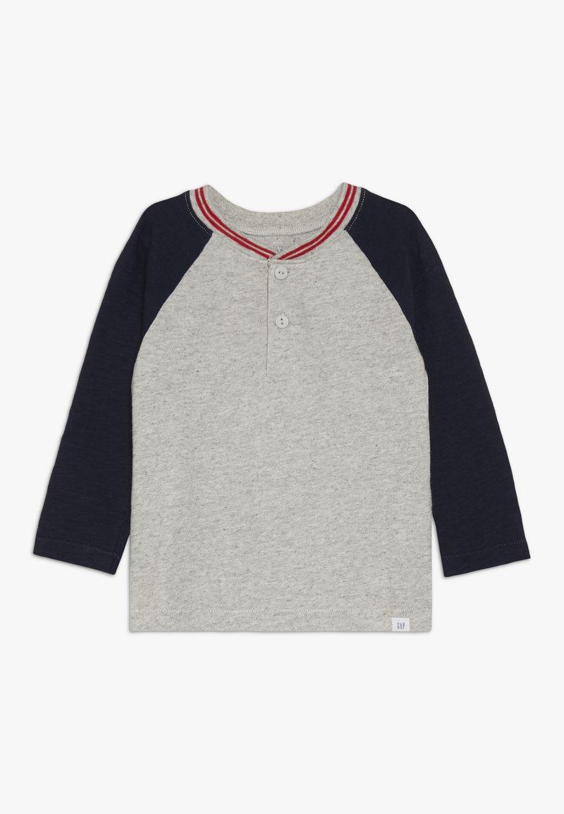 GAP - TODDLER BOY HENLEY - Långärmad tröja - grey heather