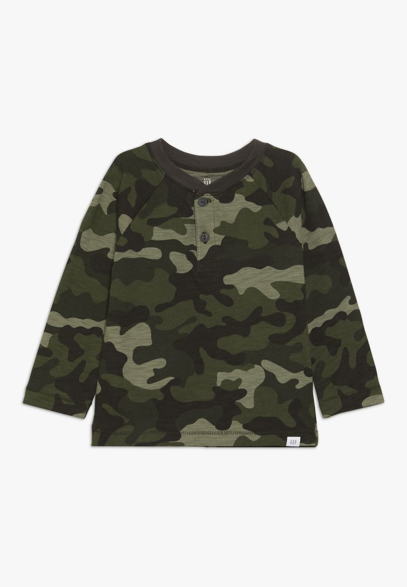 GAP - TODDLER BOY HENLEY - Longsleeve - olive