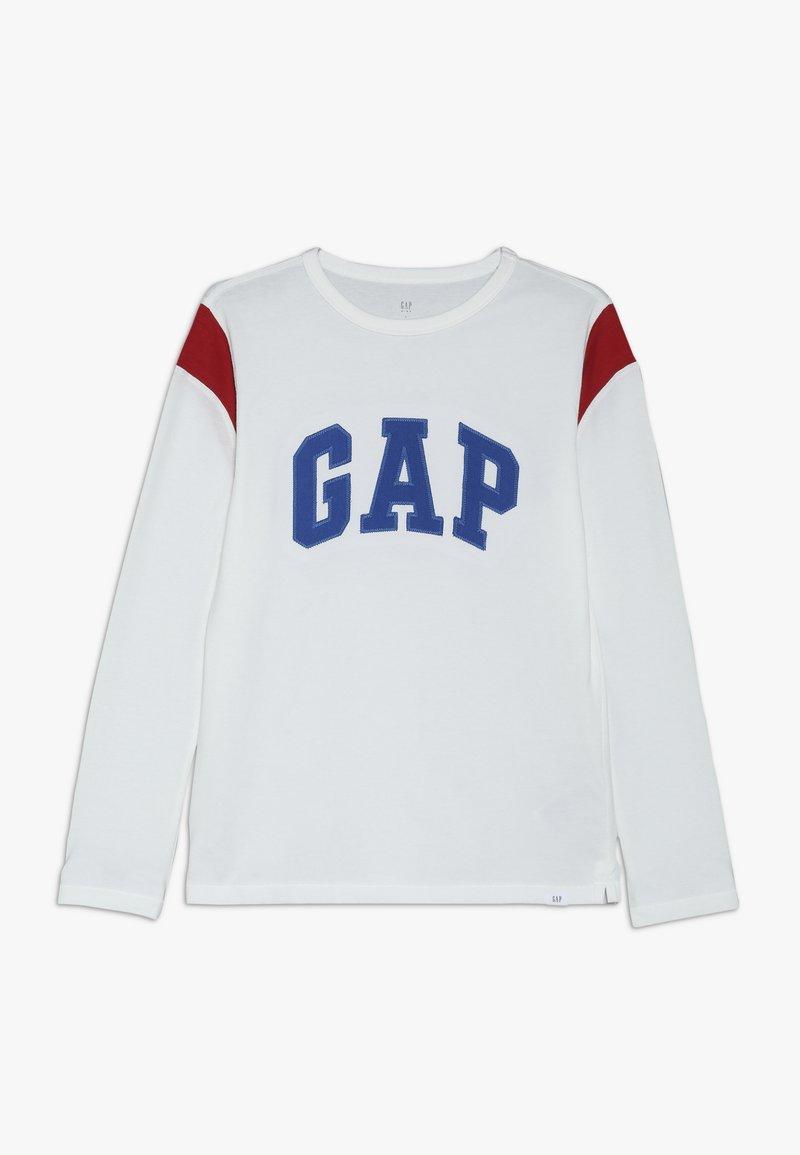 GAP - BOY LOGO TEE - Maglietta a manica lunga - new off white