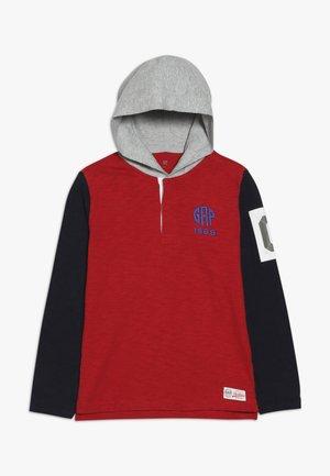 BOY RUGBY HOOD - Hoodie - modern red