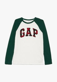 GAP - BOY ARCH - Top sdlouhým rukávem - new off white - 0