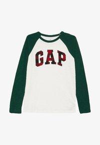 GAP - BOY ARCH - Top sdlouhým rukávem - new off white - 2
