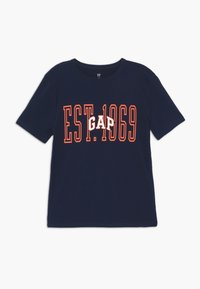 GAP - BOY - T-shirt imprimé - tapestry navy - 0