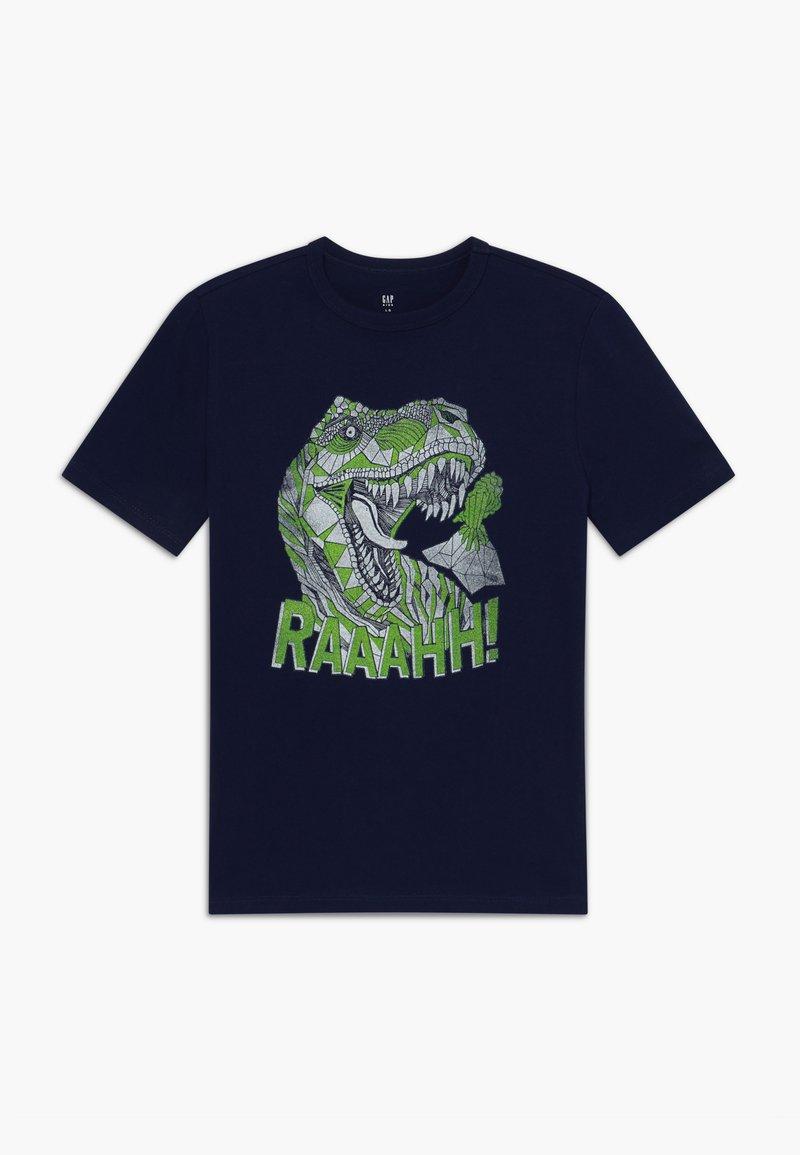 GAP - BOY  - Print T-shirt - tapestry navy