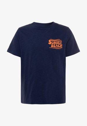 BOY FRONT BACK TEE - T-shirt imprimé - military blue