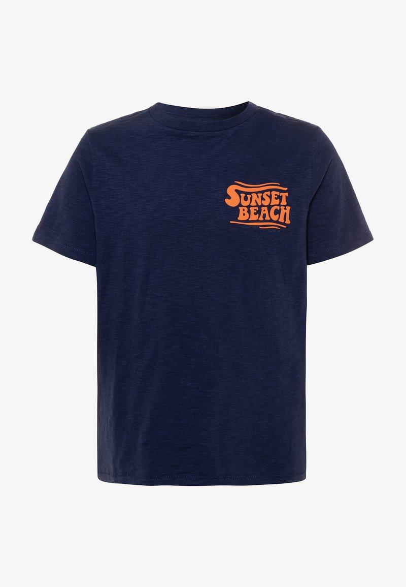 GAP - BOY FRONT BACK TEE - Camiseta estampada - military blue