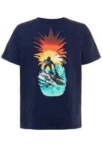 GAP - BOY FRONT BACK TEE - Camiseta estampada - military blue - 1